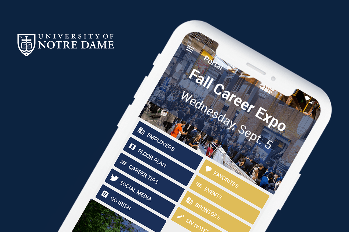 Eventus App for Notre Dame's Career Expo