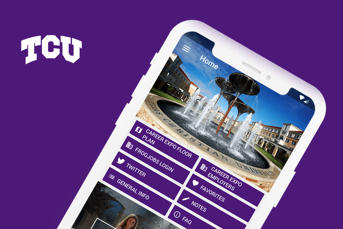 Eventus App for Texas Christian University's Career Center